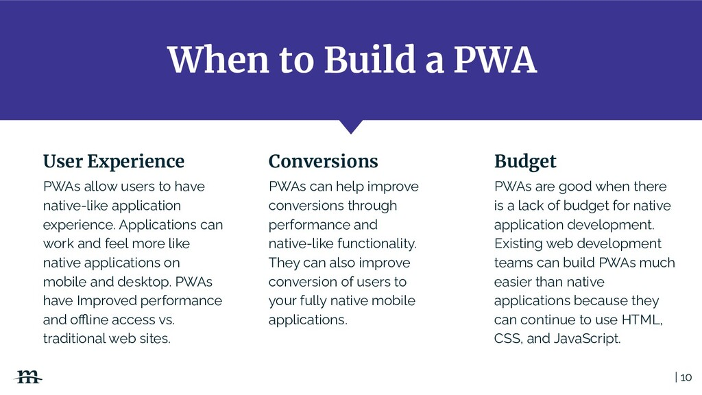 When to Build a PWA | 10 PWAs allow users to ha...