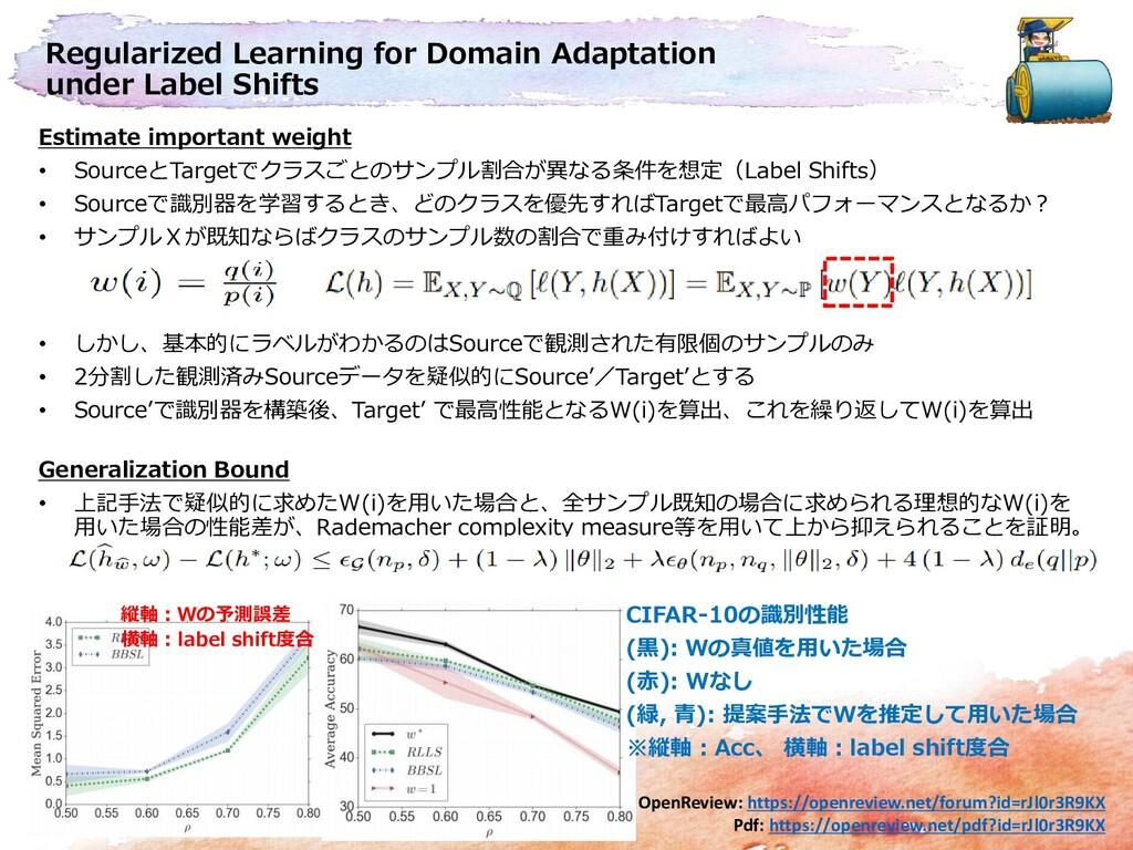 Regularized Learning for Domain Adaptation unde...