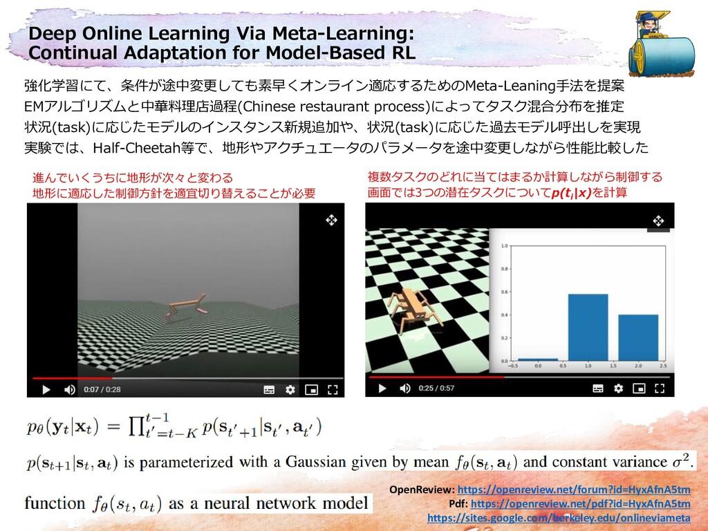 Deep Online Learning Via Meta-Learning: Continu...