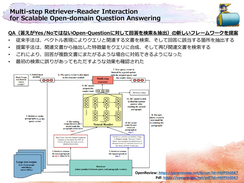Multi-step Retriever-Reader Interaction for Sca...