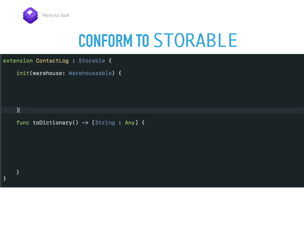 CONFORM TO STORABLE