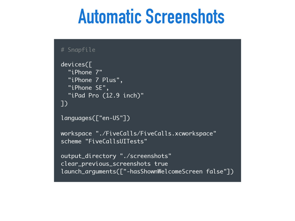 """Automatic Screenshots # Snapfile devices([ """"iP..."""