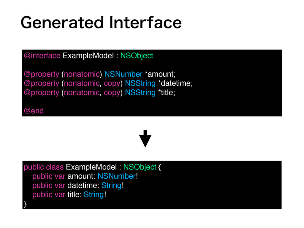 (FOFSBUFE*OUFSGBDF @interface ExampleModel : N...