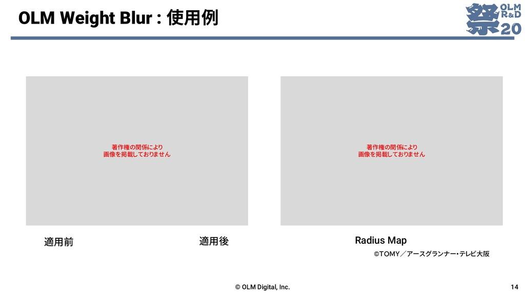 OLM Weight Blur : 使用例 © OLM Digital, Inc. 14 適用...