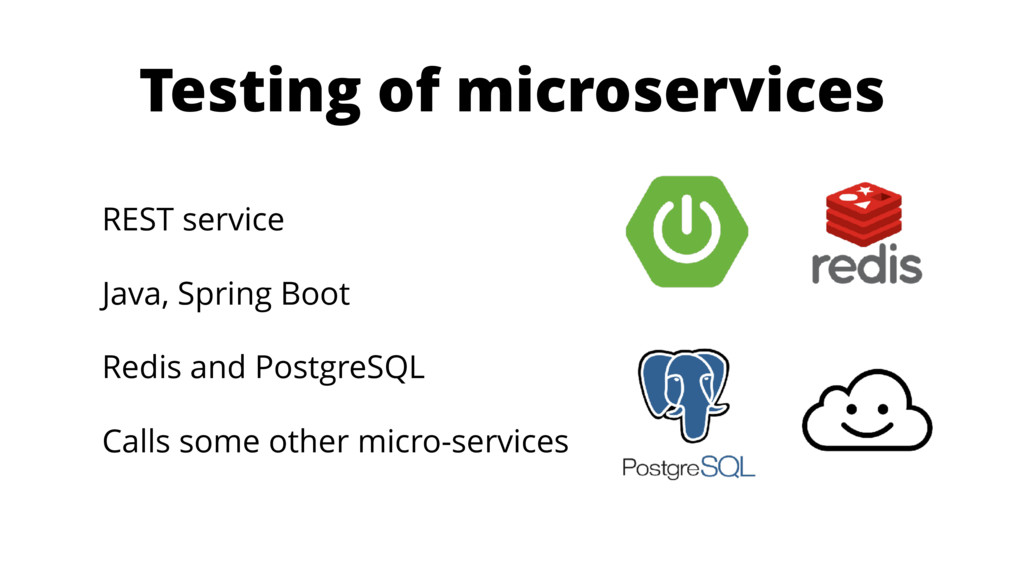 Testing of microservices REST service Java, Spr...