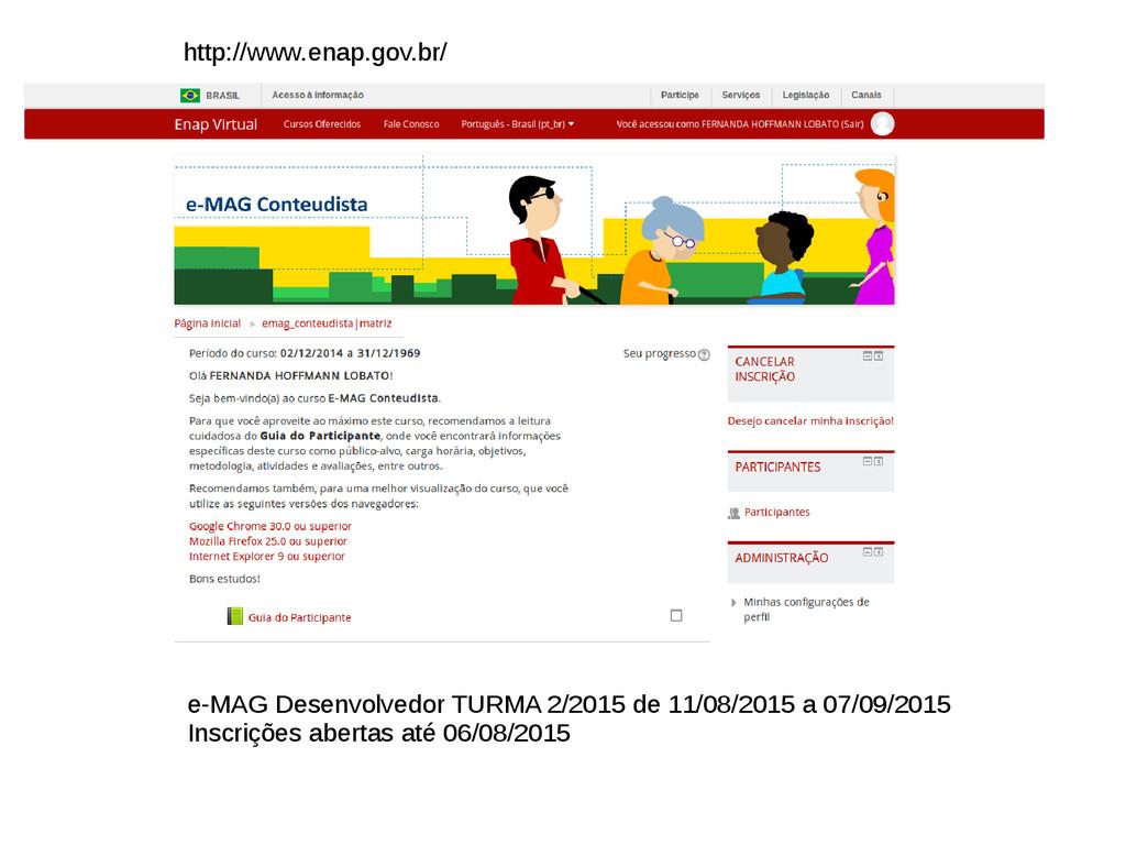 e-MAG Desenvolvedor TURMA 2/2015 de 11/08/2015 ...