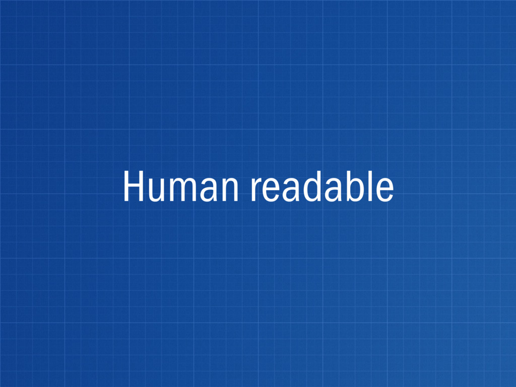 Human readable