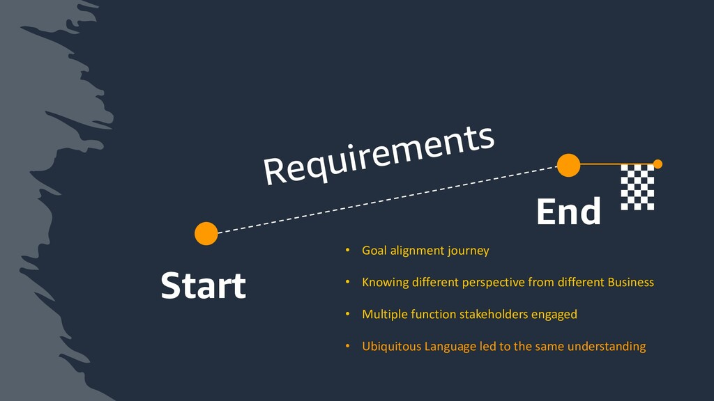 Start End Requirements • Goal alignment journey...