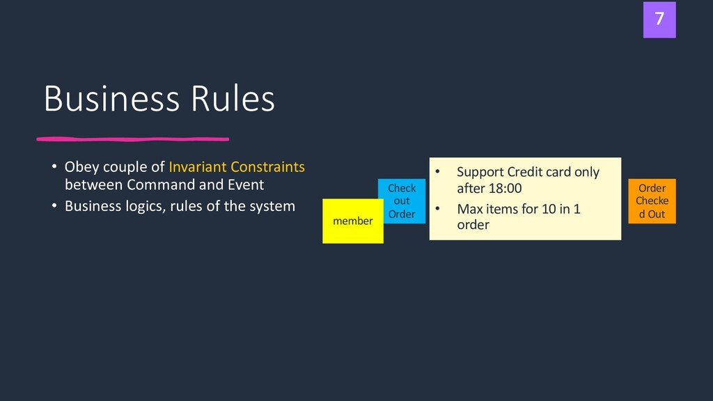 Business Rules • Obey couple of Invariant Const...