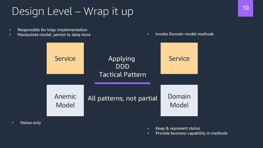 Design Level – Wrap it up Service Service Anemi...