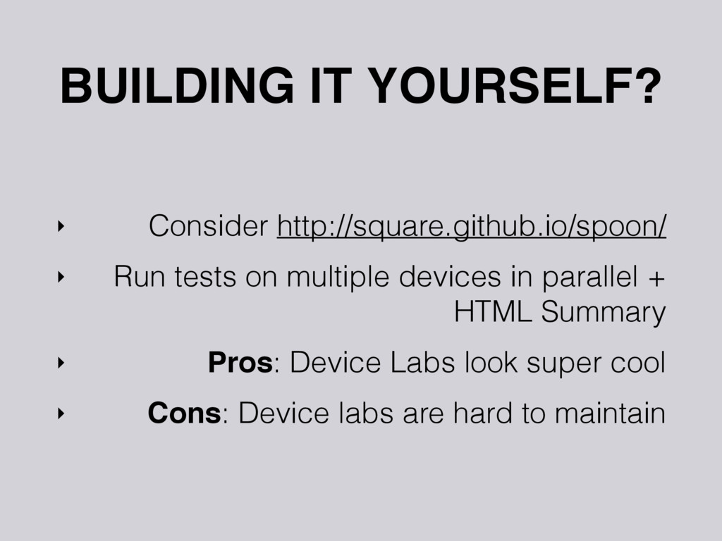 BUILDING IT YOURSELF? ‣ Consider http://square....