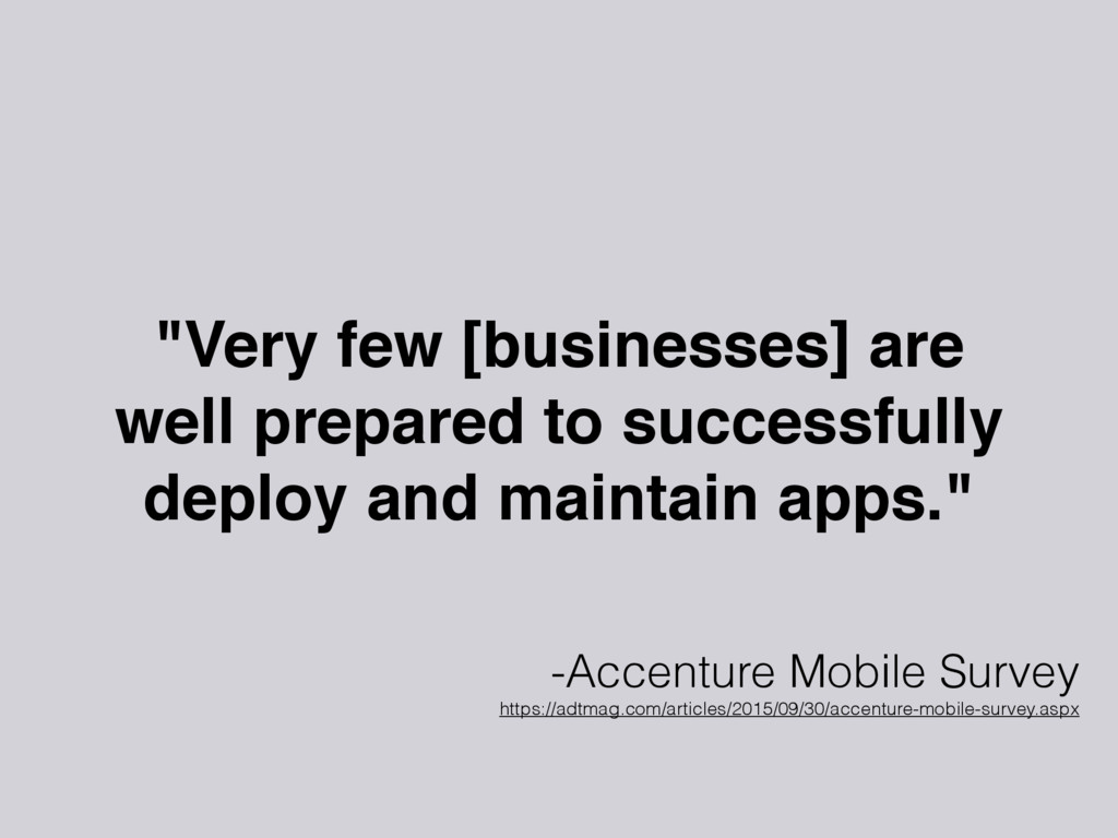 """""""Very few [businesses] are well prepared to suc..."""