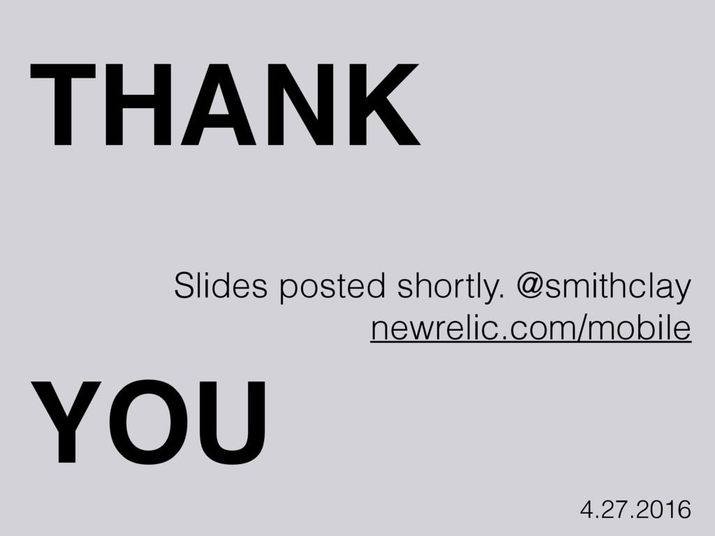 THANK Slides posted shortly. @smithclay newreli...