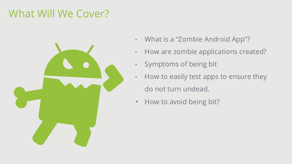 """• What is a """"Zombie Android App""""? • How are zom..."""