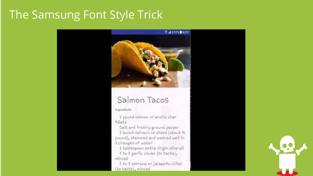 The Samsung Font Style Trick