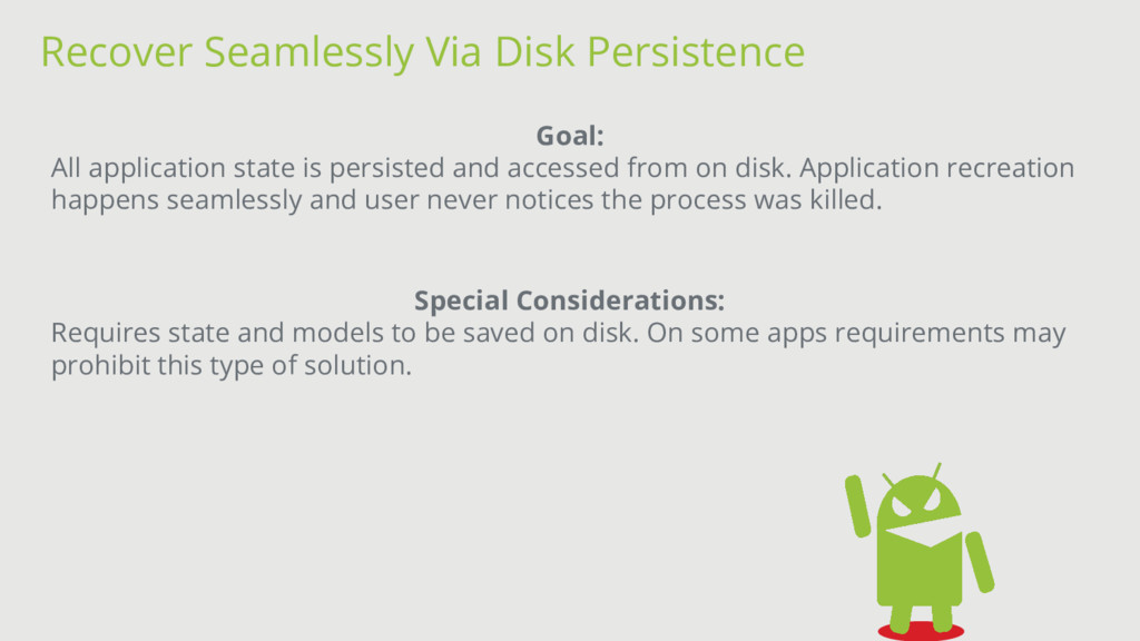 Recover Seamlessly Via Disk Persistence Goal: A...