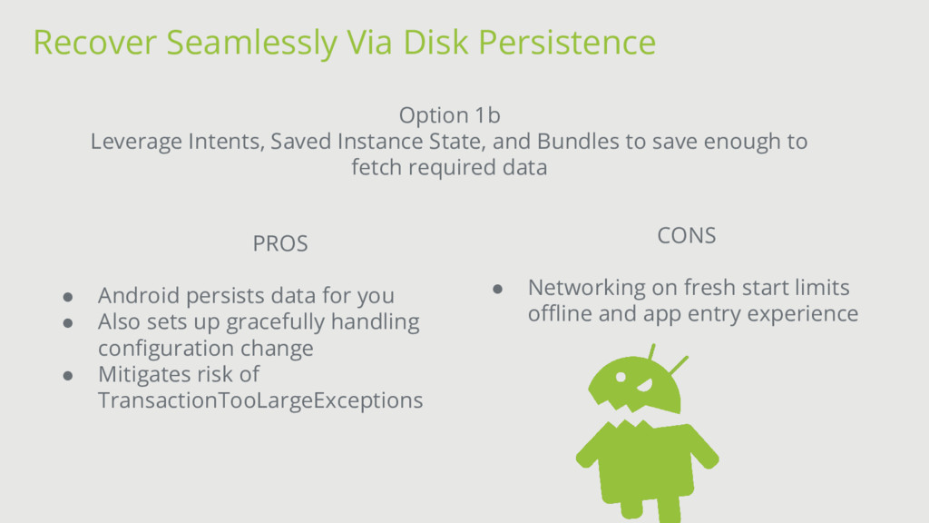 Recover Seamlessly Via Disk Persistence Option ...