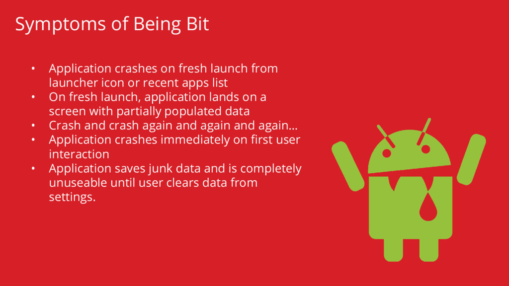 • Application crashes on fresh launch from laun...