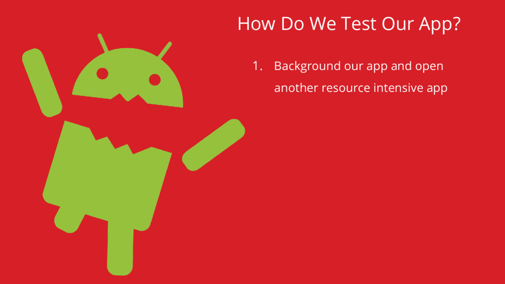 1. Background our app and open another resource...