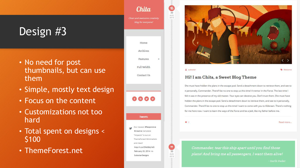 Design #3 • No need for post thumbnails, but ca...