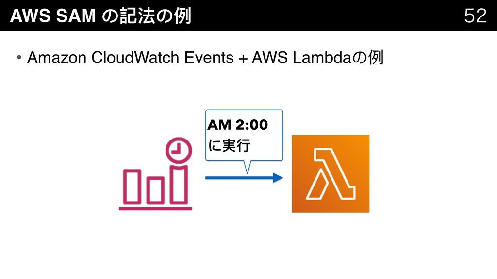 AWS SAM の記法の例例   • Amazon CloudWatch Events ...