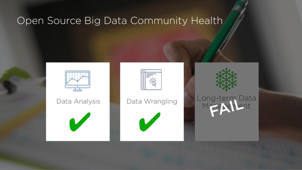 Open Source Big Data Community Health Long-term...