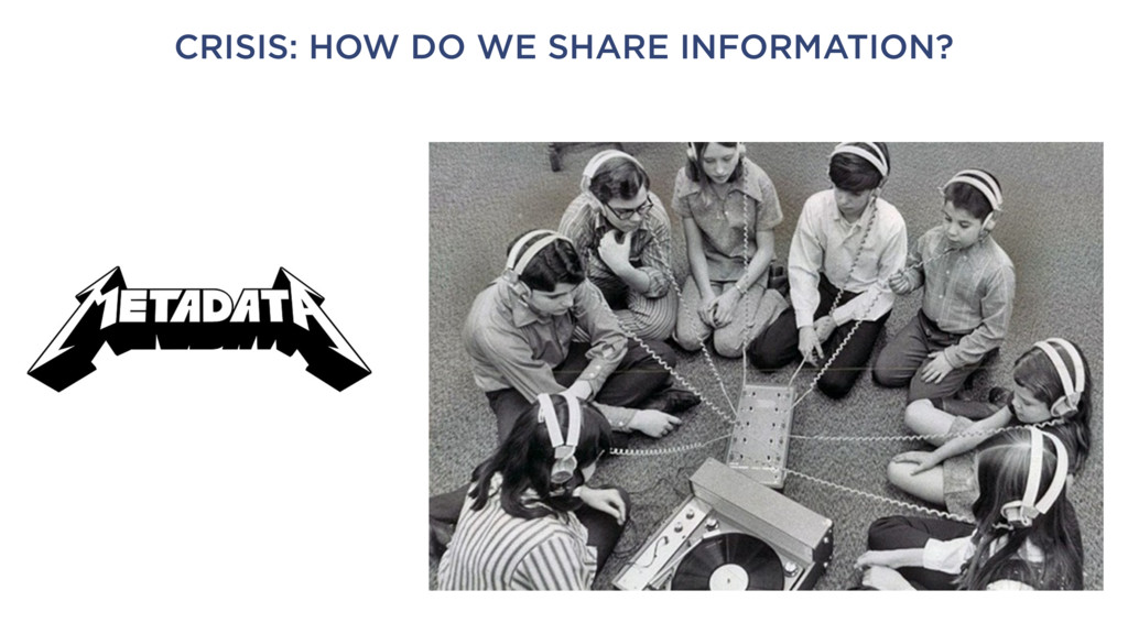 CRISIS: HOW DO WE SHARE INFORMATION?