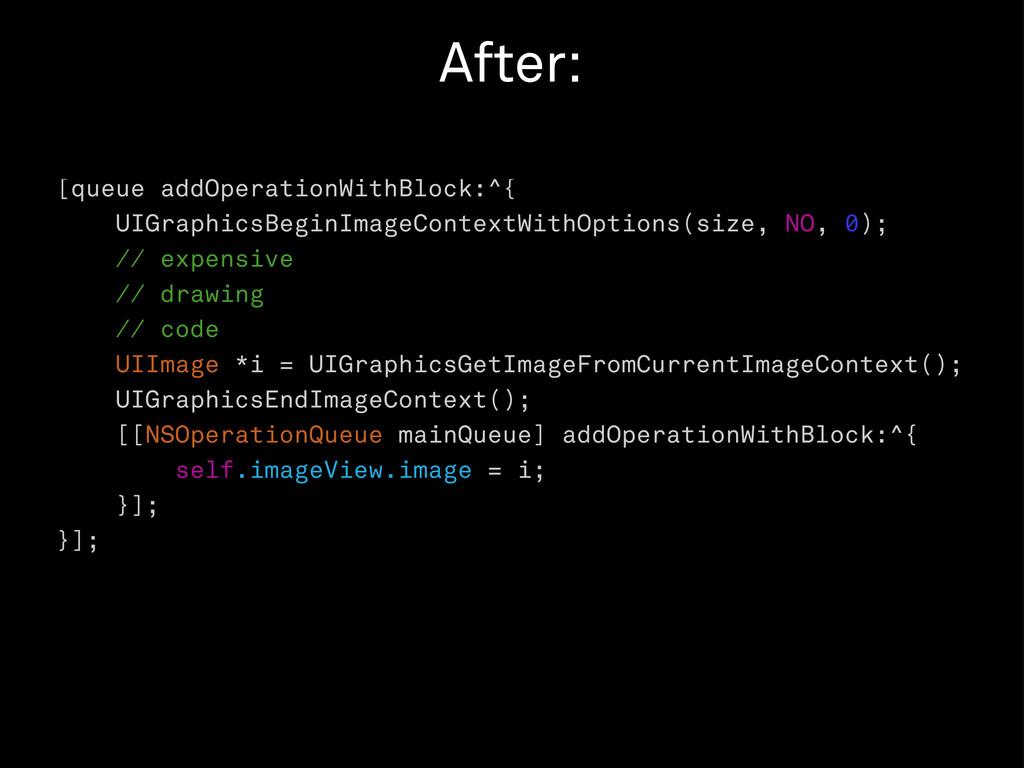 [queue addOperationWithBlock:^{ UIGraphicsBegin...