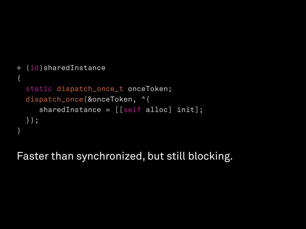 + (id)sharedInstance { static dispatch_once_t o...
