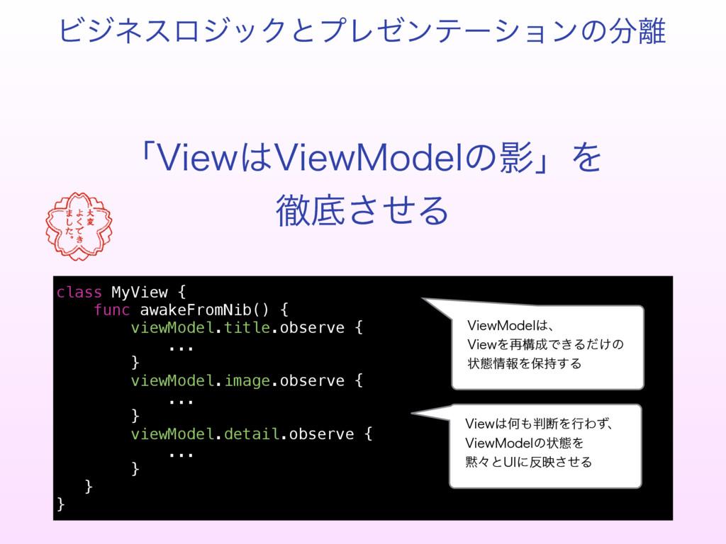 ʮ7JFX7JFX.PEFMͷӨʯΛ పఈͤ͞Δ class MyView { func ...