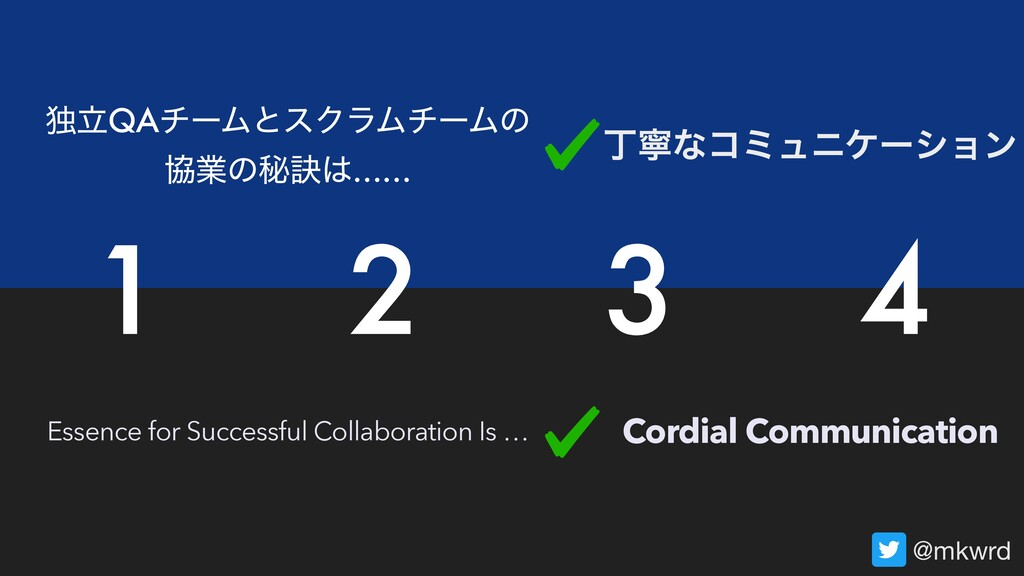 Essence for Successful Collaboration Is … ಠཱQAν...