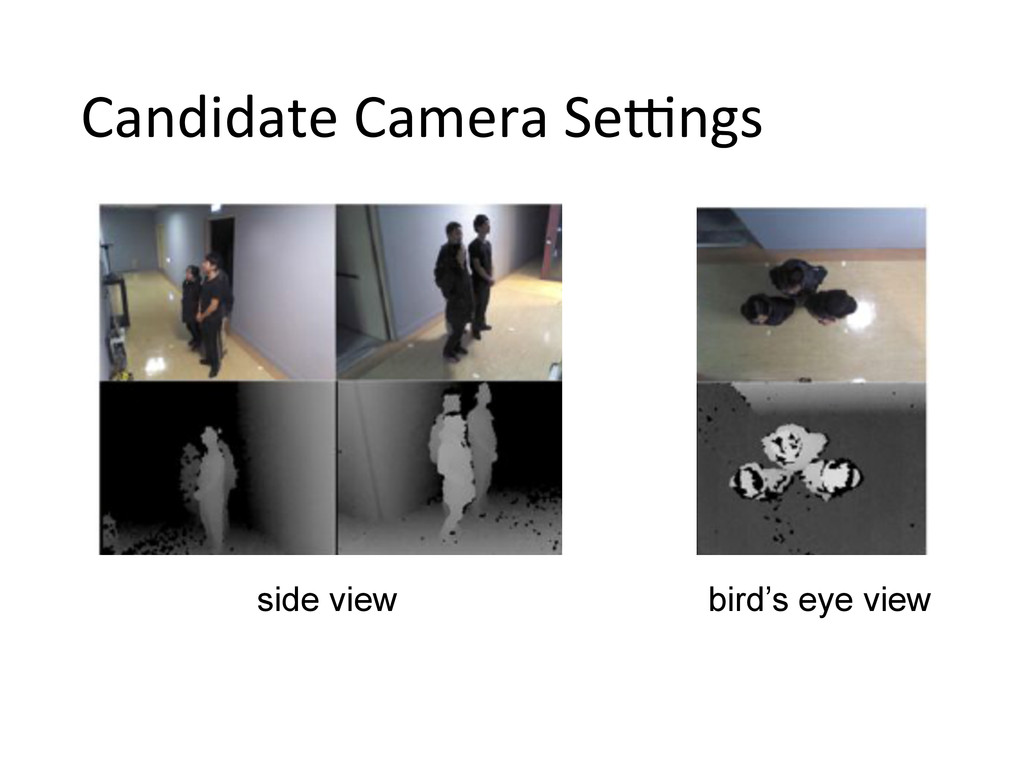 side view  bird's eye view Candidate Camer...