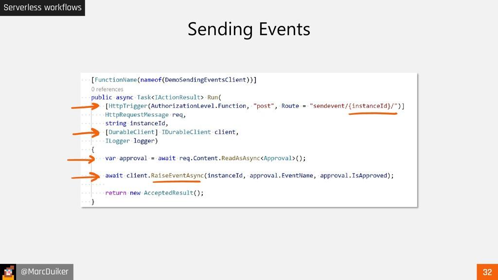 @MarcDuiker Serverless workflows Sending Events