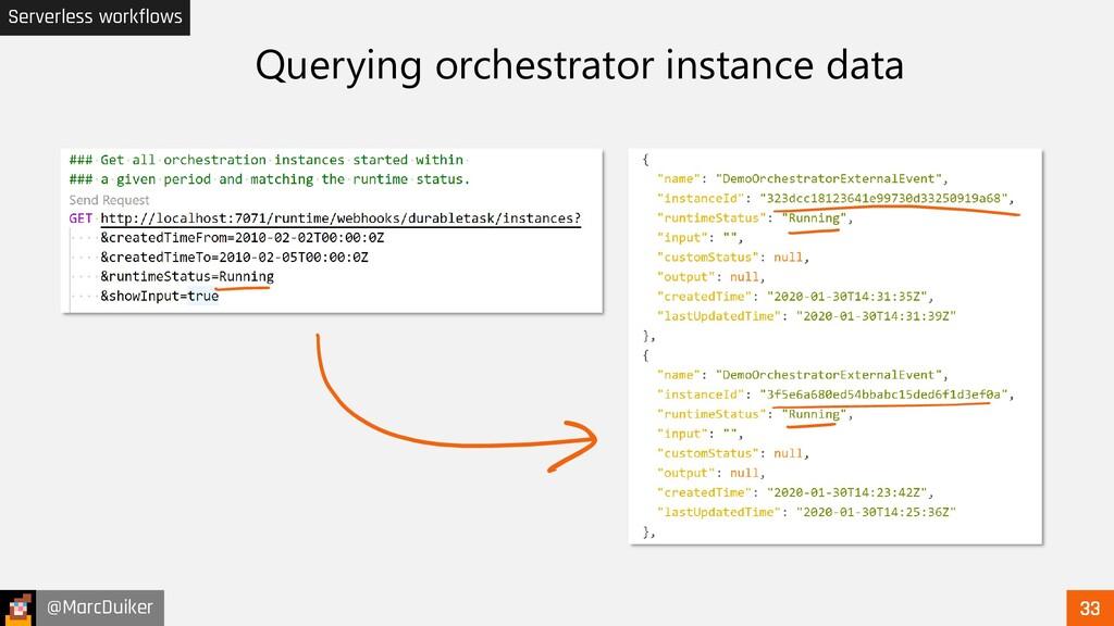 @MarcDuiker Serverless workflows Querying orche...