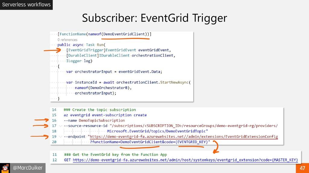 @MarcDuiker Serverless workflows Subscriber: Ev...