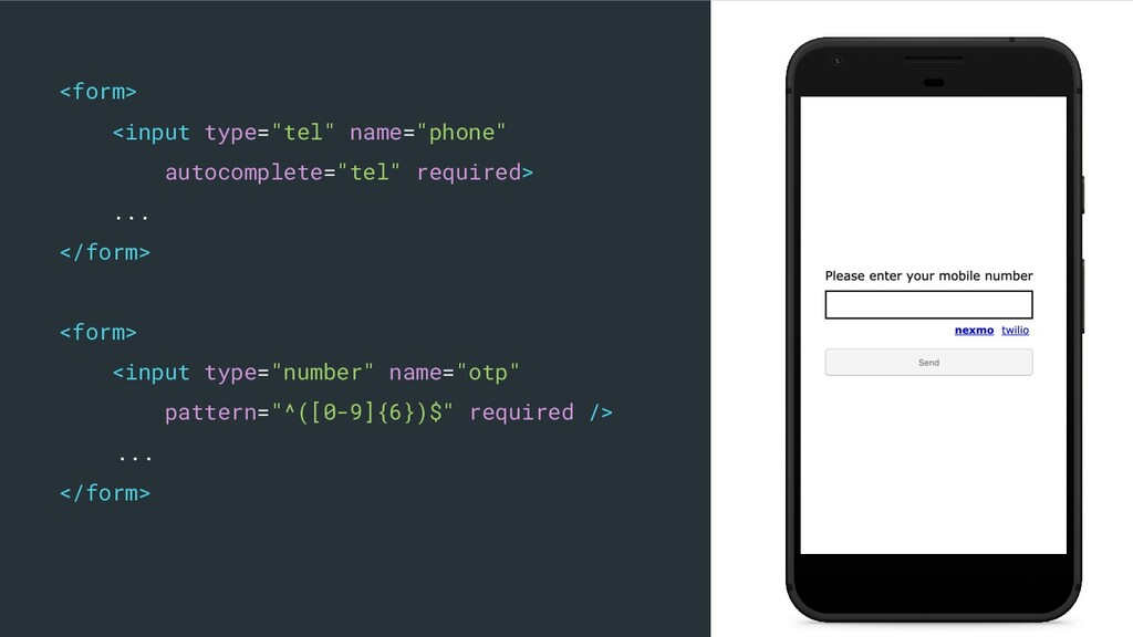 "<form> <input type=""tel"" name=""phone"" autocompl..."