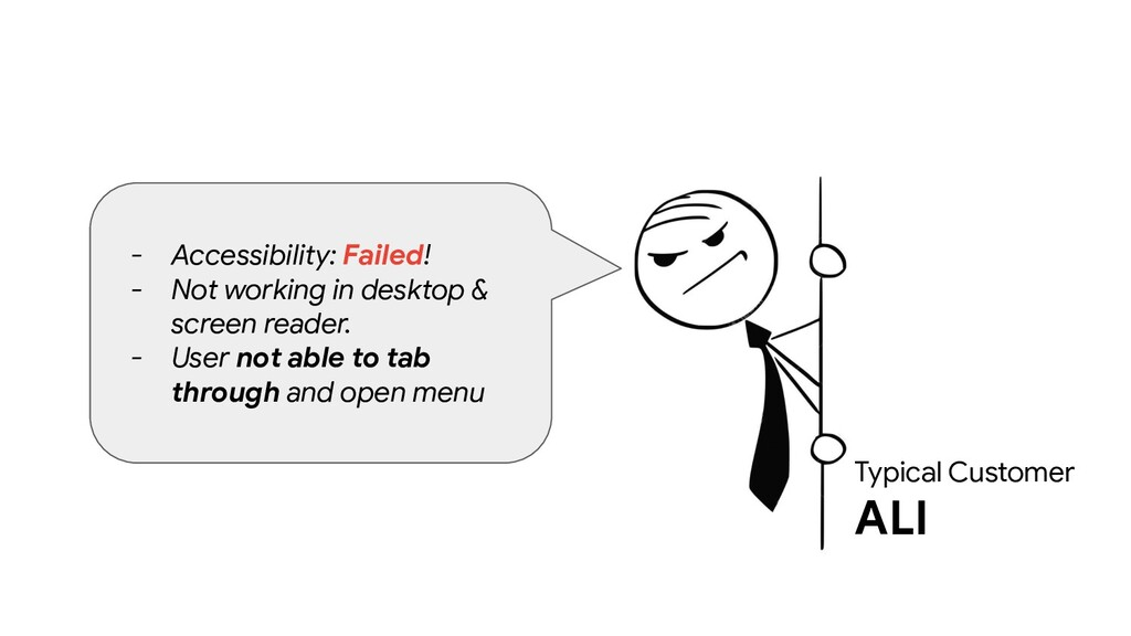 Typical Customer ALI - Accessibility: Failed! -...