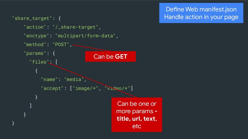 """""""share_target"""": { """"action"""": """"/_share-target"""", """"..."""