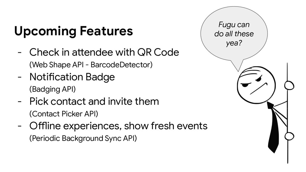 Upcoming Features - Check in attendee with QR C...