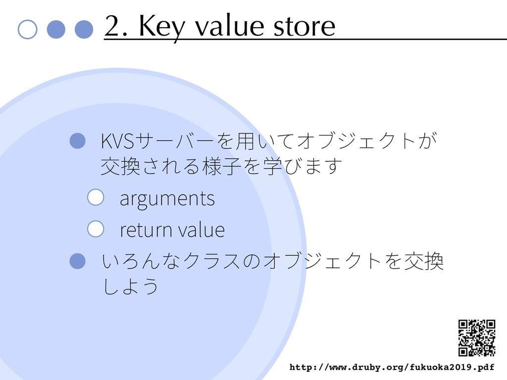 2. Key value store KVS arguments return value h...