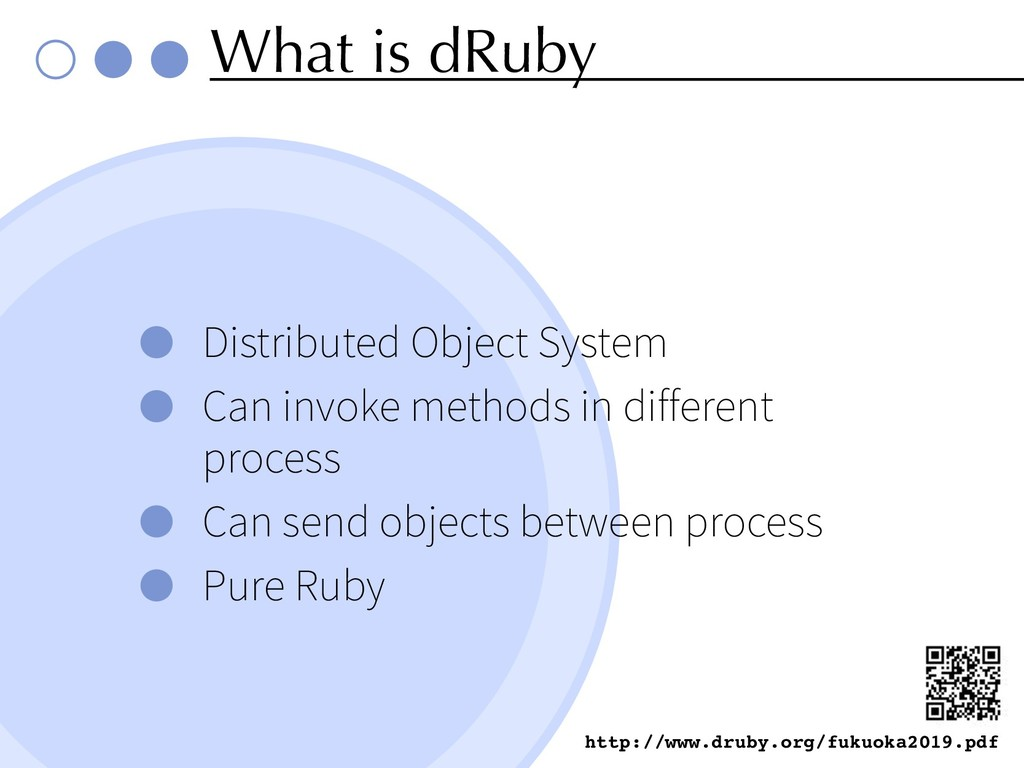 What is dRuby Distributed Object System Can inv...