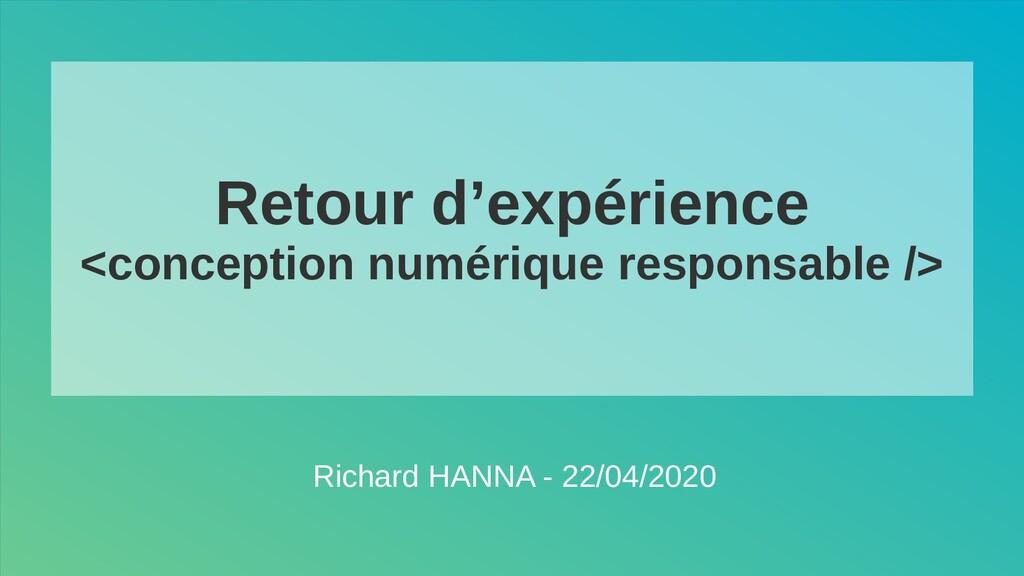 Retour d'expérience <conception numérique respo...