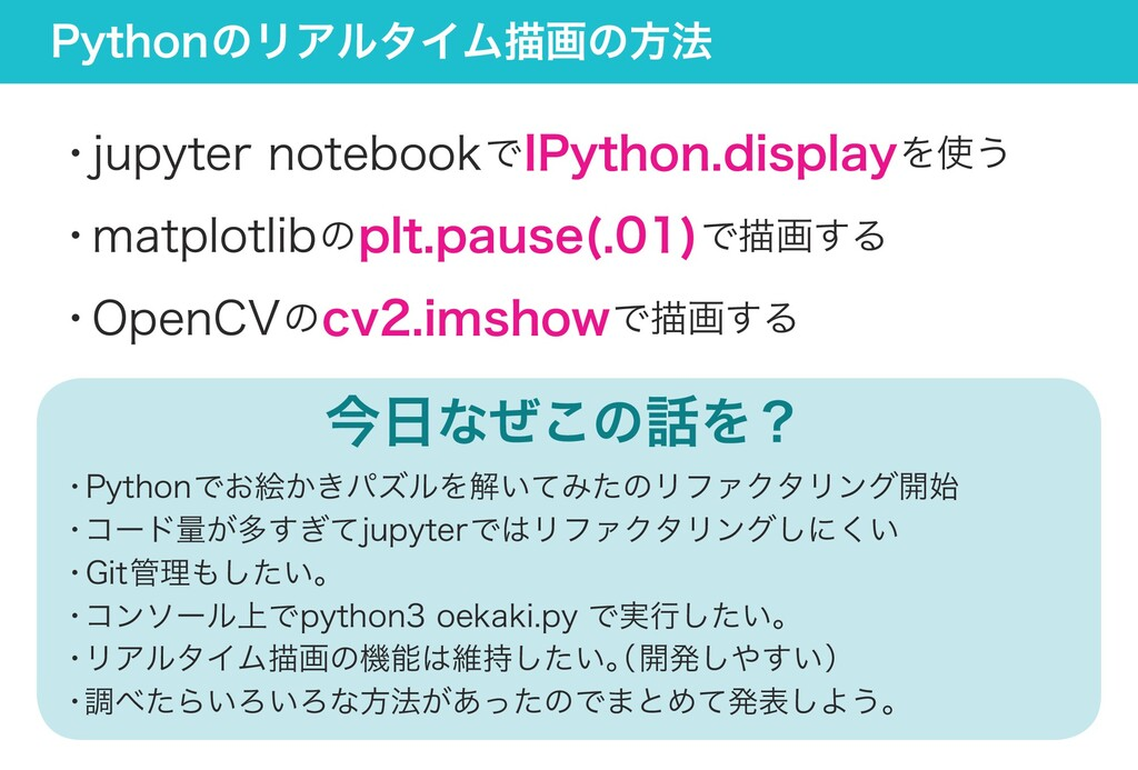 Pythonのリアルタイム描画の方法 ・jupyter notebookでIPython.di...