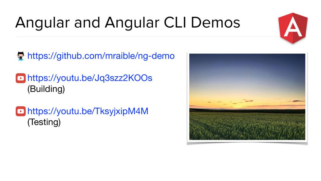 Angular and Angular CLI Demos https://github.co...