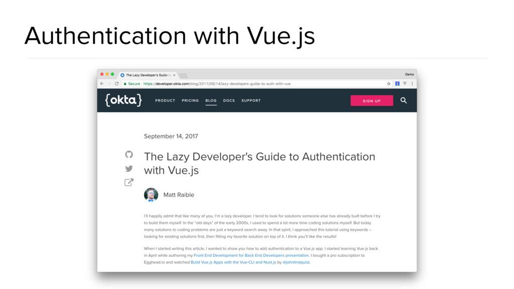 Authentication with Vue.js