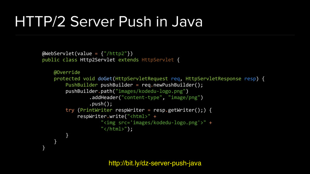 HTTP/2 Server Push in Java http://bit.ly/dz-ser...