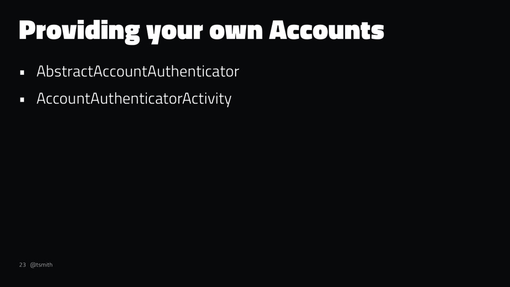 Providing your own Accounts • AbstractAccountAu...