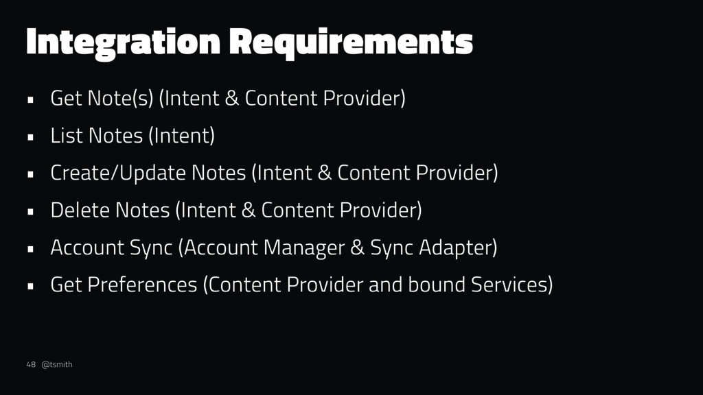Integration Requirements • Get Note(s) (Intent ...