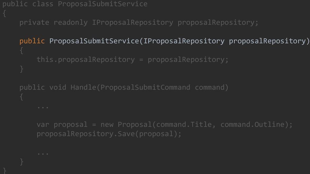 34 public class ProposalSubmitService { private...