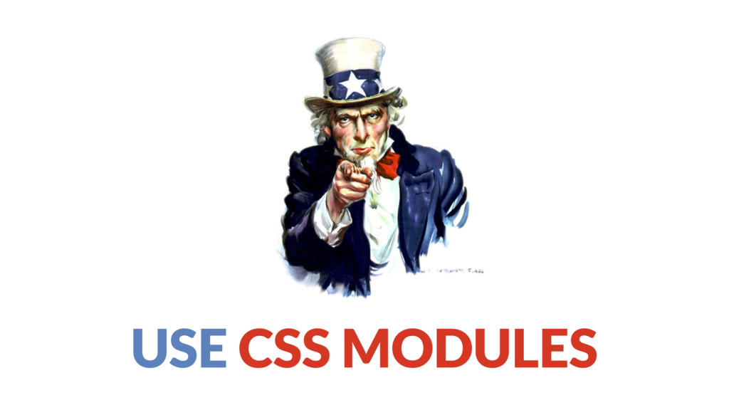 USE CSS MODULES